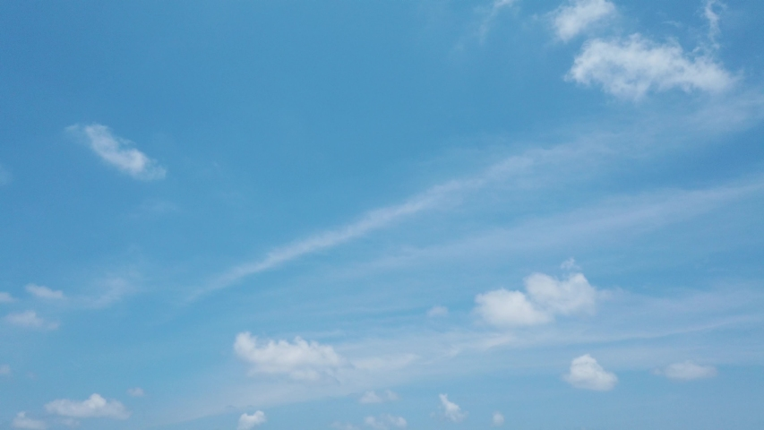 Blue sky with clouds - Panning motion with gimbal  #1032443396