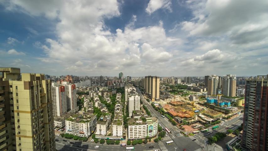 Foshan city, Chancheng district cityscpae timelapse | Shutterstock HD Video #1032775256