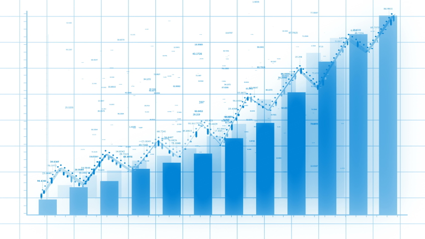4k Financial data and diagrams showing a steady increase in profits,growing charts and flowing counters of numbers,Economy background,Business digital Data trend hud Graph,Stock Market.  | Shutterstock HD Video #1032826676