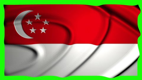 Singapore Animation Flag Animation Green Screen Animation Singapore video Flag video Green Screen video Singapore asia Flag asia Green Screen asia Singapore 4k Flag 4k Green Screen 4k