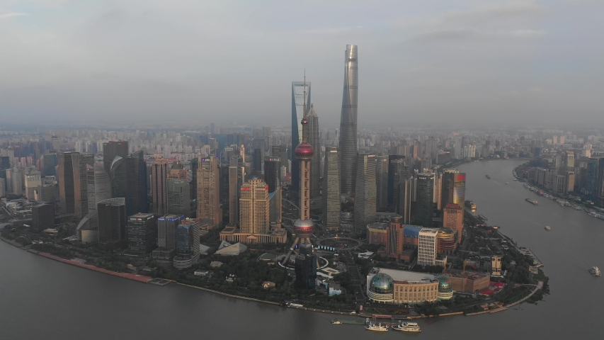 Asian China Shanghai City Architecture Scenery | Shutterstock HD Video #1033395476