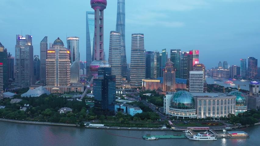 Asian China Shanghai City Architecture Scenery | Shutterstock HD Video #1033395506