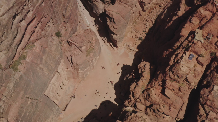 Drone shot over Petra - Jordan, June 2019 | Shutterstock HD Video #1033471136
