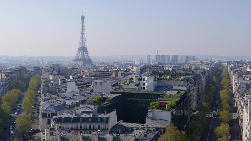 Paris, Eiffel tower, Aerial view, Spring, France, Europe | Shutterstock HD Video #1033471826