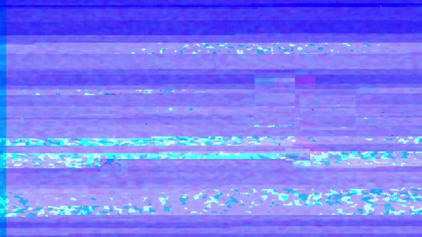 Abstract digital glitch art animation effect. Retro futurism wave style. Video signal damage with pixel noise and error interference #1033489256