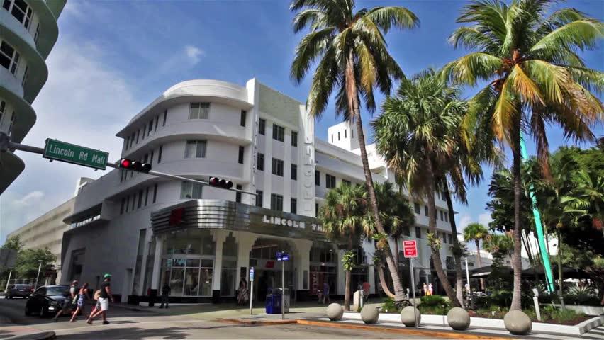 Miami Beach, Florida USA - June 10, 2015: High Definition Video Of ...