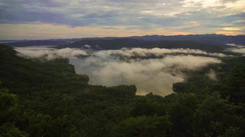 Beautiful nature scenes on lake jocassee in south carolina   Shutterstock HD Video #1033554416