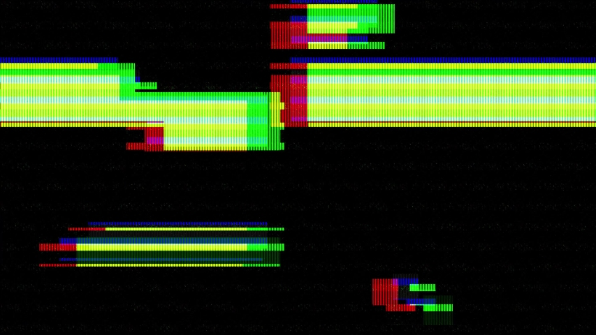 Abstract digital glitch art animation effect. Retro futurism wave style. Video signal damage with pixel noise and error interference | Shutterstock HD Video #1033715606