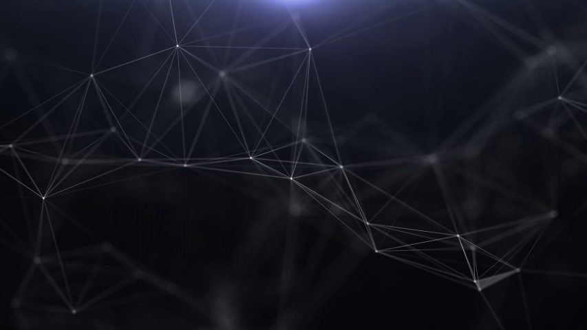 Abstract glowing virtual neural network. Futuristic technology or artificial intelligence concept. | Shutterstock HD Video #1033776926