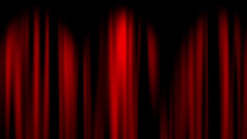 This is a illustration of Red curtain opening left with green screen | Shutterstock HD Video #1033823696