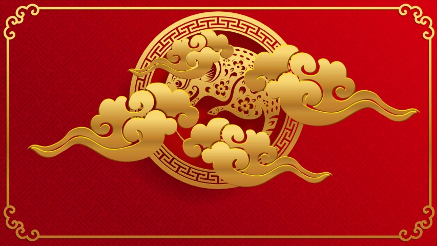 Happy chinese new year 2020 year of the rat ,paper cut rat character,flower and asian elements with craft style on background.  (Chinese translation : Happy chinese new year 2020, year of rat) | Shutterstock HD Video #1034186606