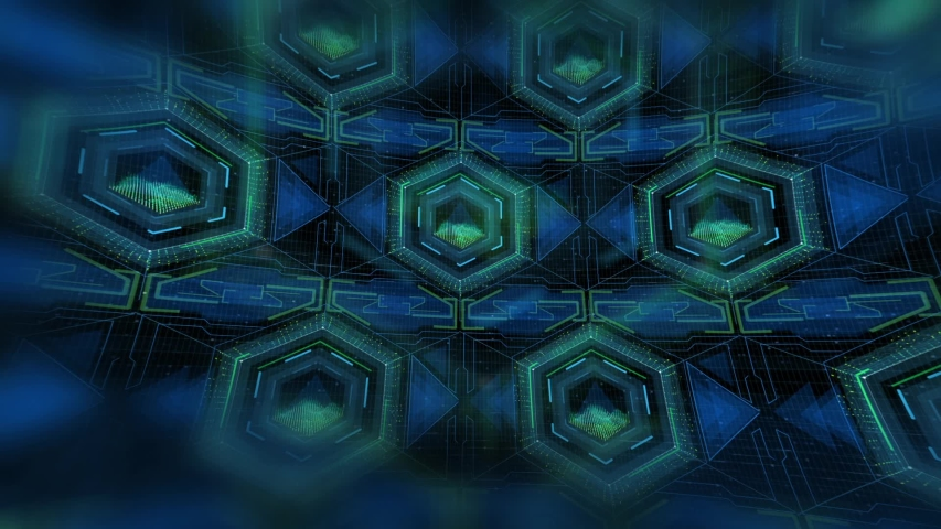 Futuristic Hexagon Heads Up Display is a fascinating 1920x1080 (HD) footage that shows a full panel of a HUD interface with plenty of hexagon panels. The panels show changing data and progress. This  | Shutterstock HD Video #1034187086