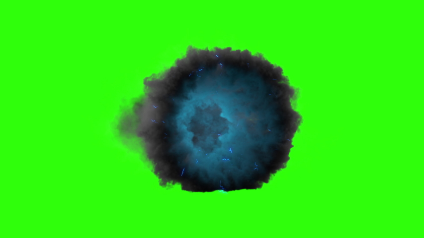 Thanos portal.  3d animation cloud gate appearing and on green screen. | Shutterstock HD Video #1034257736