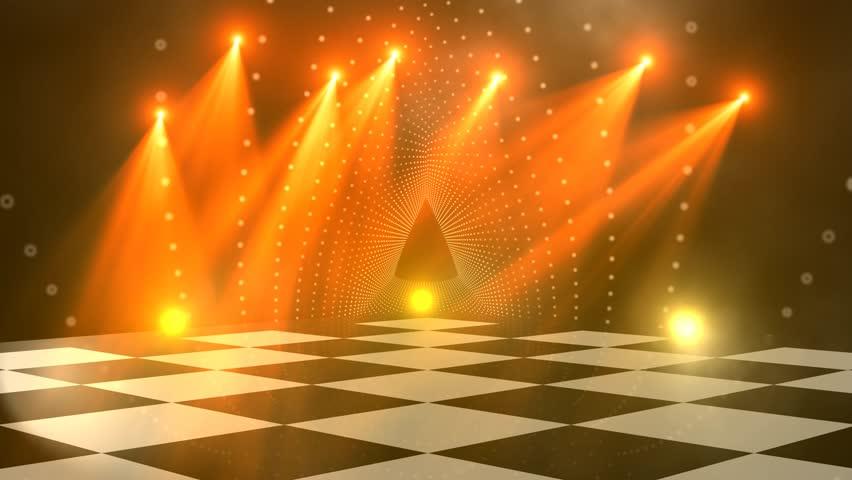 virtual dance floor disco lights background for titles