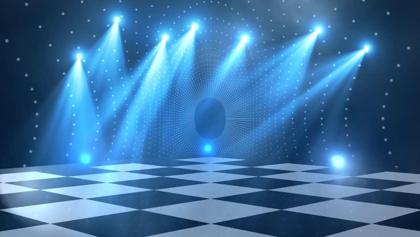 Virtual Dance Floor Disco Lights Background 1 - For Titles ...