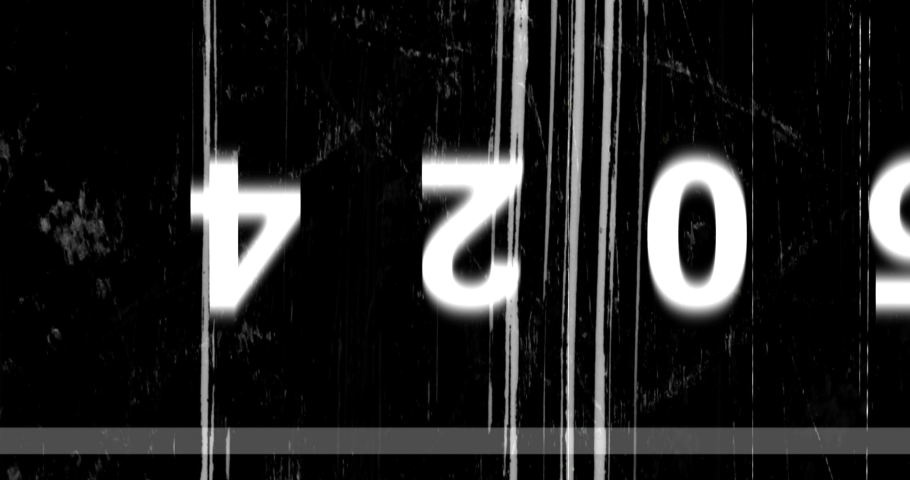 Old film grunge on black background realistic flickering, analog vintage TV signal with bad interference, static noise damage background, overlay | Shutterstock HD Video #1034681576