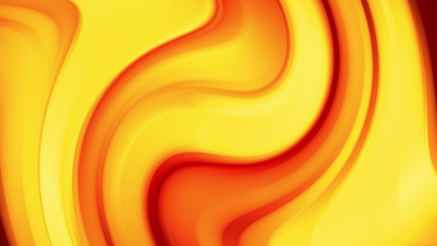 A red yellow gradient of a bright fire color changes slowly and cyclically. 4k smooth seamless looped abstract animation. 3d render of curved lines.  #1034870726