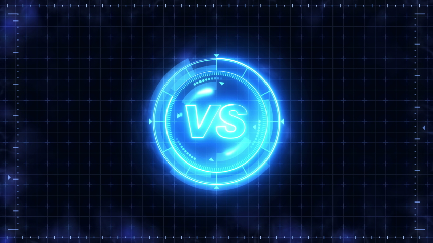 Futuristic sports game loop animation. Versus fight background. Radar neon digital display. VS. Game control interface element. Battle fight sports competition. | Shutterstock HD Video #1035187376