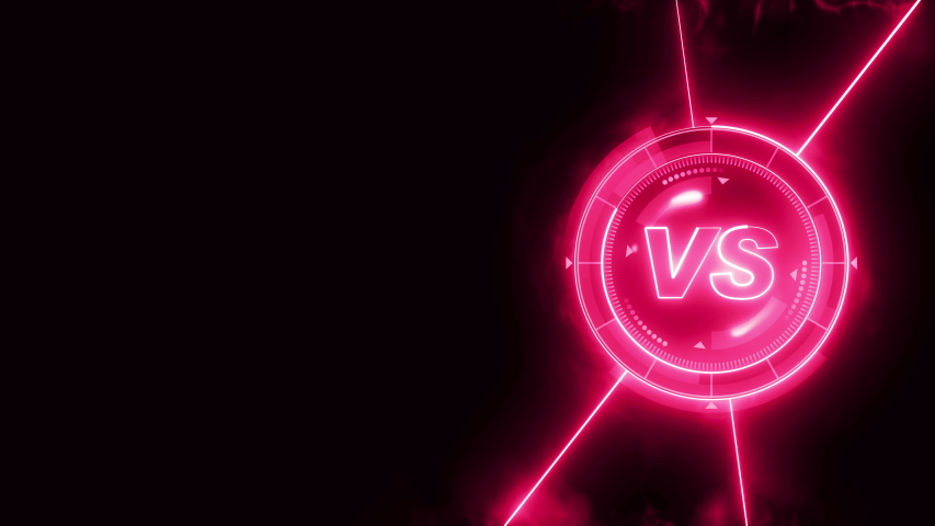 Futuristic sports game loop animation. Versus fight background. Radar neon digital display. VS. Game control interface element. Battle fight sports competition. | Shutterstock HD Video #1035187406