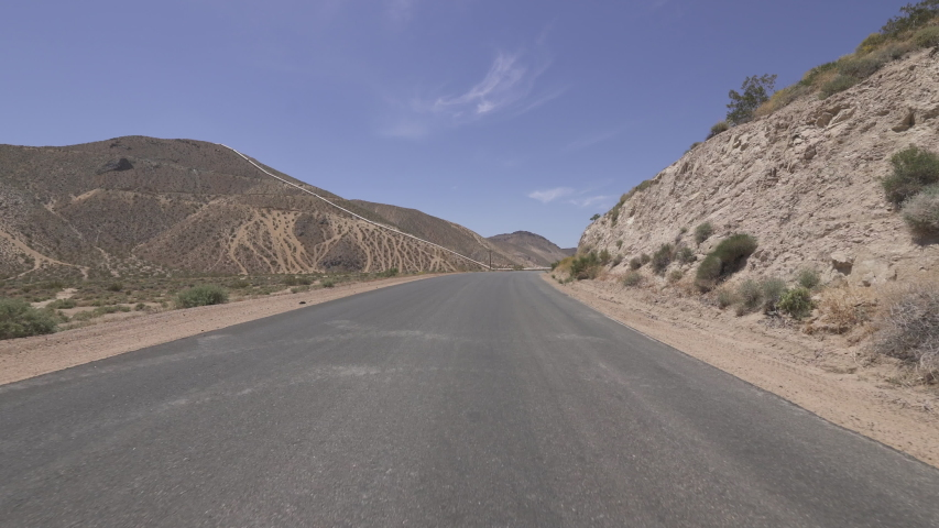 Driving Template Desert Canyon Road Mojave California Front View Time Lapse  | Shutterstock HD Video #1035269756