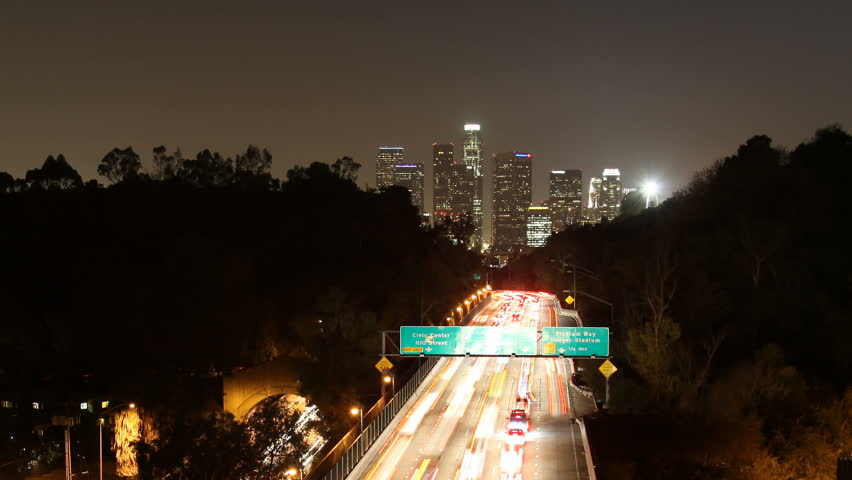 Timelapse zoom out from downtown Los Angeles.  | Shutterstock HD Video #1035283