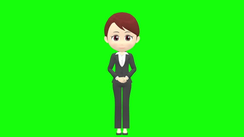 [Presentation A] Woman B suit front whole body | Shutterstock HD Video #1035326756