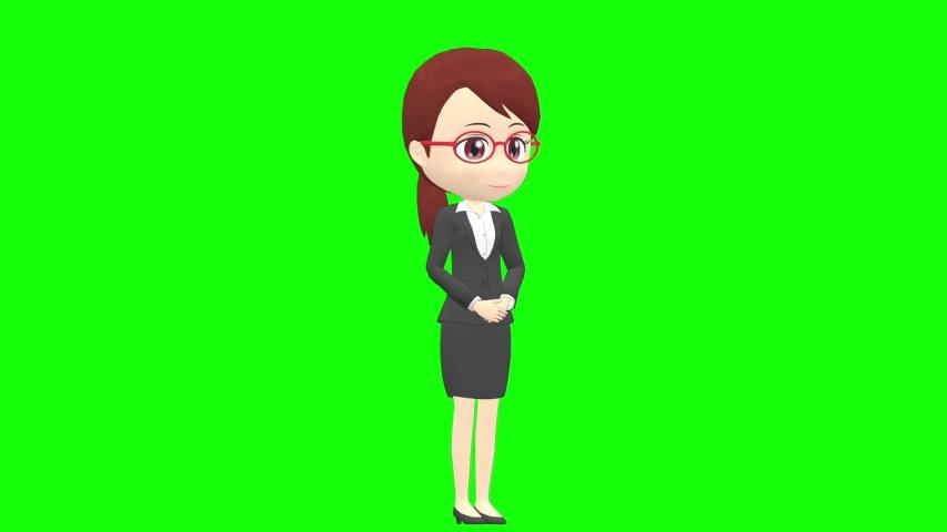 [Presentation A] Woman B suit oblique angle whole body | Shutterstock HD Video #1035326786