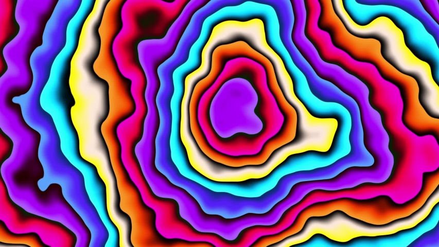Moving random wavy texture. Psychedelic animated abstract curved shapes. Looping footage.   Shutterstock HD Video #1035342116