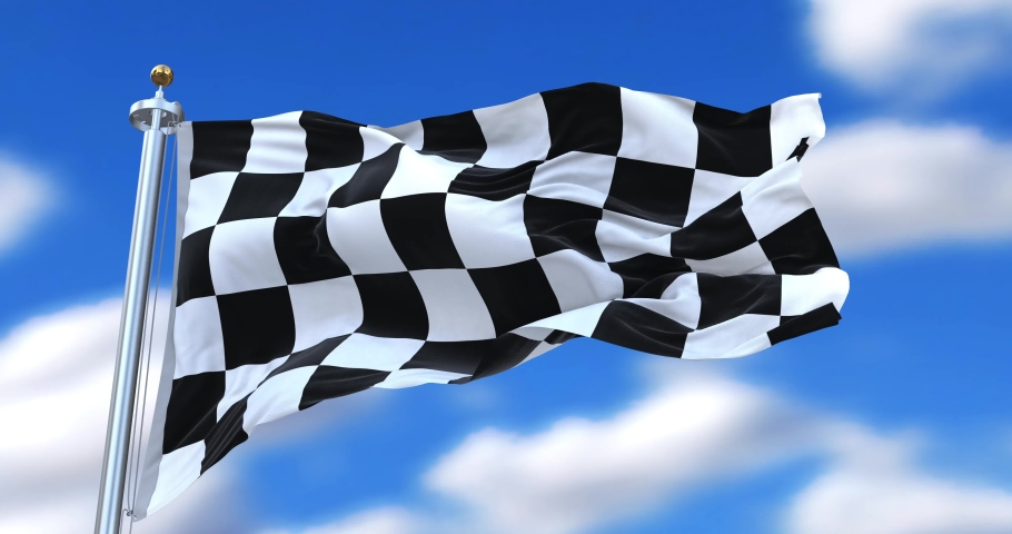 Checkered Flag or Chequered Flag may refer to: Checkered flag, a type of racing flag. | Shutterstock HD Video #1035393806