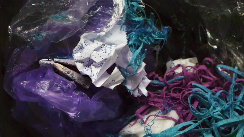 The cotton garbage texture and objects. | Shutterstock HD Video #1035508976