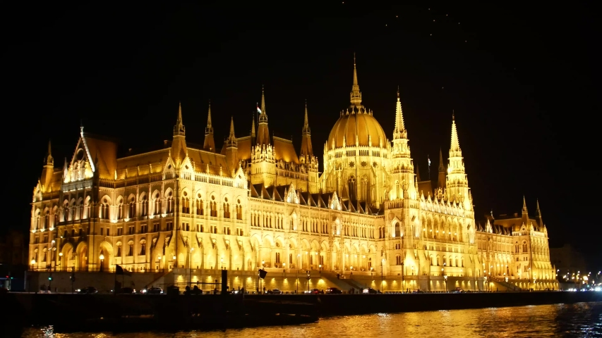 Budapest Night Parliament shooting in 4k format | Shutterstock HD Video #1035910076