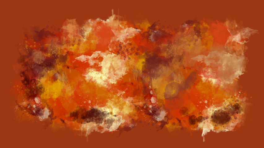 Orange and brown watercolor blot appears on the alpha channel.   Shutterstock HD Video #1036232456