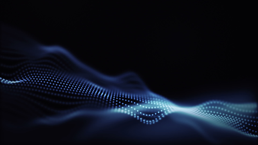 Background abstract digital wave and light square particles in organic motion. | Shutterstock HD Video #1036290746