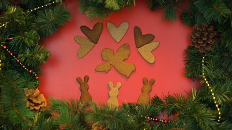 Angel Shaped Christmas Tree.1000 Angel Shaped Cookie Stock Video Clips And Footage