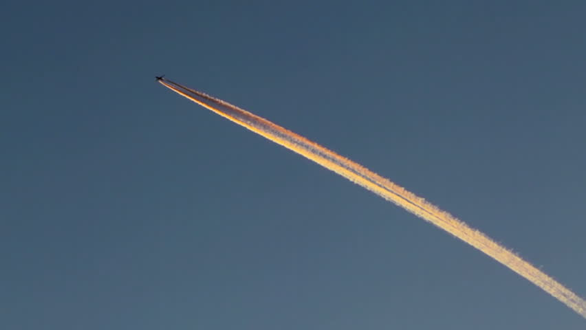 stock video of airplane vapor trails plane high in 10365806 shutterstock
