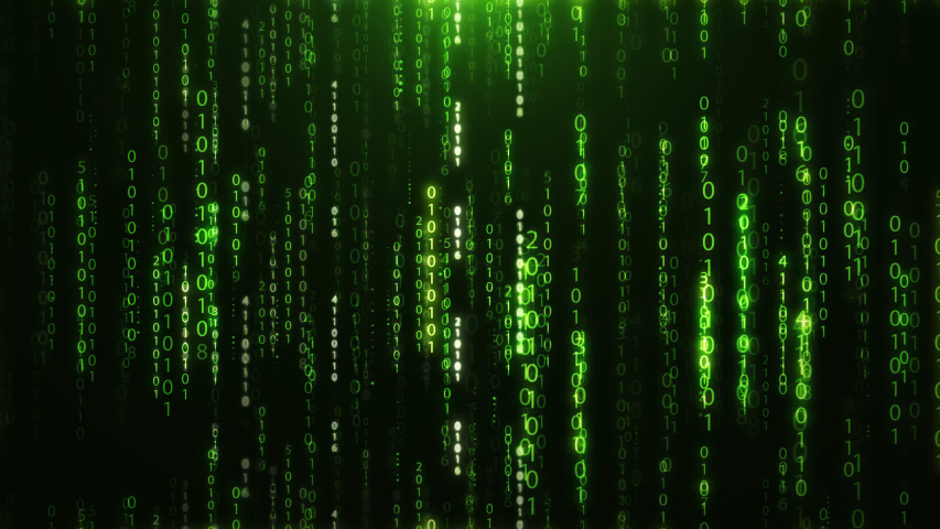 Abstract Binary Codes Green Background. Digital Electronics. | Shutterstock HD Video #1036674236