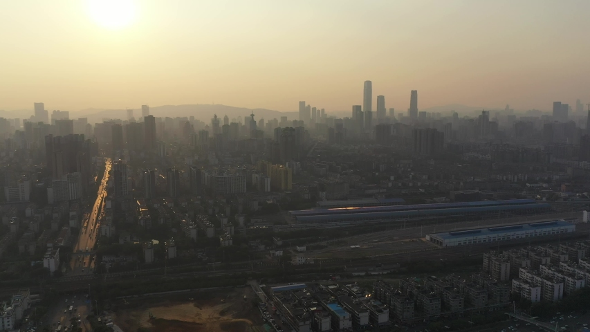 China's Changsha City Architecture Landscape | Shutterstock HD Video #1037157146