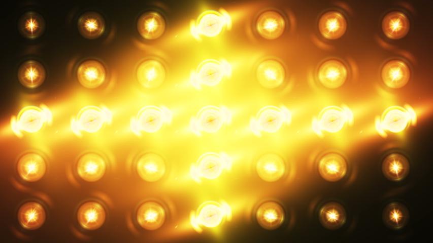Floodlight Lights Flashing Wall VJ Stage 4K Blinder Blinking Lights Flash Club Flashlights Disco Lights Matrix Beam Lights Bulb Halogen Headlamp Lamp Nightclub Turn Off On Loop   Shutterstock HD Video #1037205266