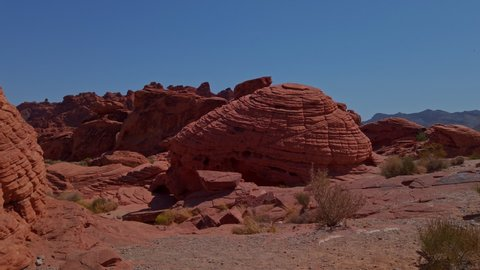 Beehive Rock Formation in Valley of Fire at Nevada