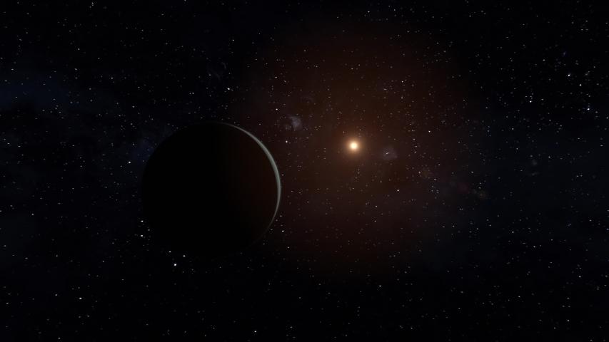 Realistic CGI Uranus Planet FlyBy in 4k. #1037309426