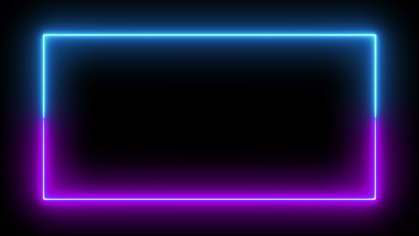 Neon led loop led frame led neon fluorescent loop fluorescent frame fluorescent neon ultraviolet loop ultraviolet frame ultraviolet neon screen loop screen frame screen seamless blue purple animation | Shutterstock HD Video #1037763206