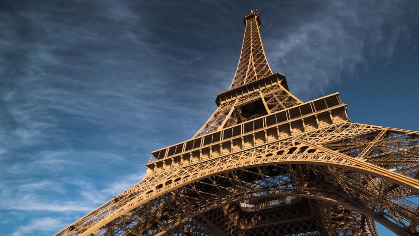 hyper lapse, Eiffel tower, Paris. France #1038774026