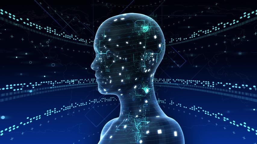 AI, artificial intelligence digital network technologies concepts Background. | Shutterstock HD Video #1038901706