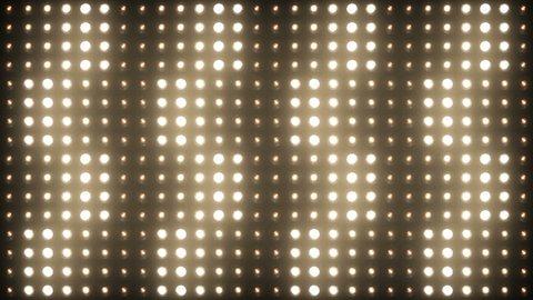 Flashing Lights Spotlight Bulb Flood lights Vj Led Wall Stage Led Display Blinking Lights Motion Graphics Background Backdrop 4K Ultra HD