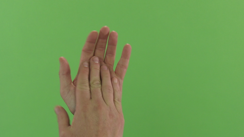 Green screen shot of white male hands clapping | Shutterstock HD Video #1039245956