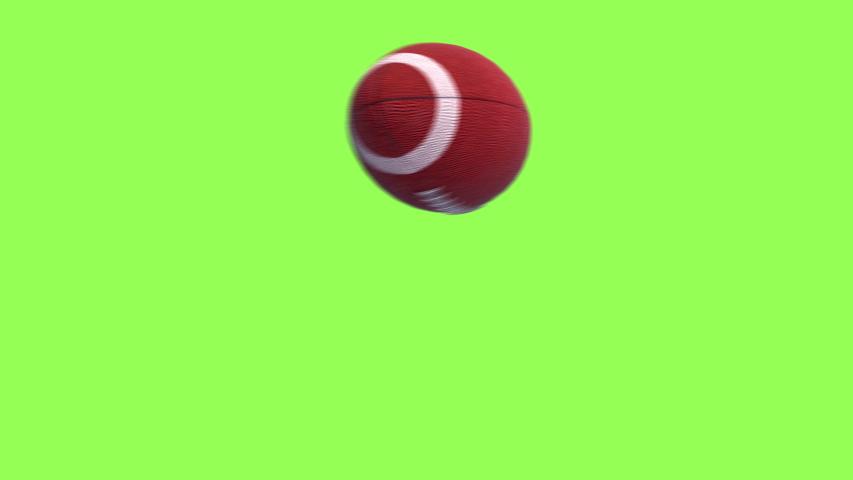 American football kick Throw in Motion on Green Screen. Looped American football  3d Animation Ball luma key black-white alpha | Shutterstock HD Video #1040235176