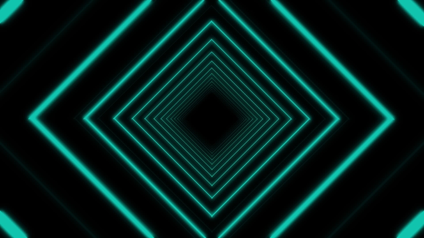 Animation of two green explosions with flickering green squares in the middle on black background | Shutterstock HD Video #1040366786