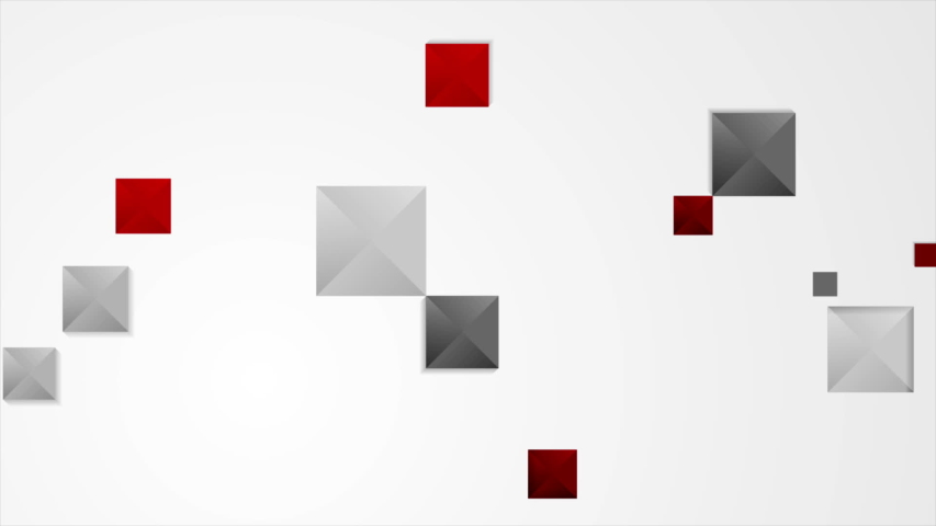 Abstract tech minimal geometric red and grey squares motion graphic background video corporate animation ultra hd | Shutterstock HD Video #1040488406