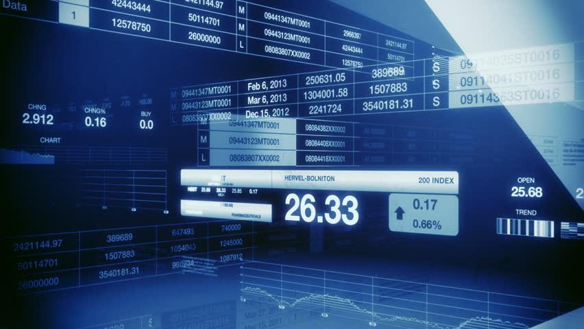 Stock Market Tickers Blue Seamless Loop   Shutterstock HD Video #1040563