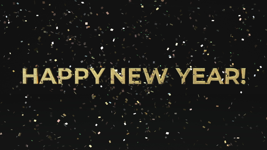 Happy New Year confetti season's greetings video card. 4K animation that shimmers and glitters you into the new year.  | Shutterstock HD Video #1040566436